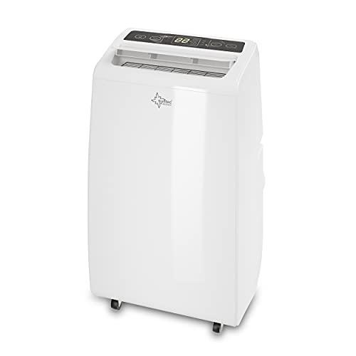 Suntec Climatiseur Portable Advance 12 Eco R290 - Climatiseur Mobile, Déshumidificateur, Ventilateur, 12000BTU/h, 3,5KW, Pour max~60 M², Minuterie Programmable, Télécommande   Tuyau d'évacuation