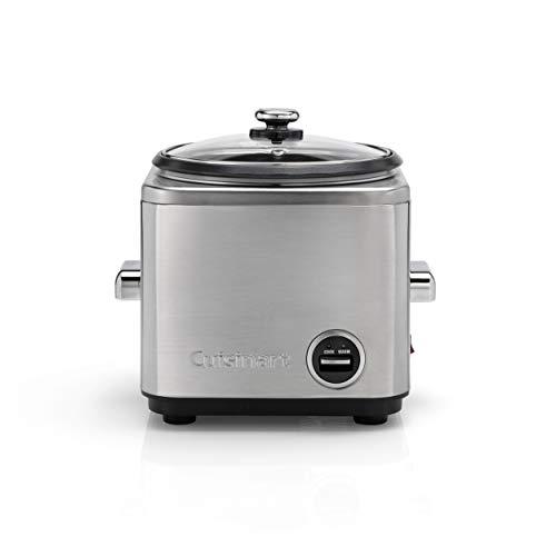 Cuisinart CRC800E Cook & Steam, cuiseur à riz compact et cuiseur à vapeur, acier inoxydable brossé, capacité de 800g