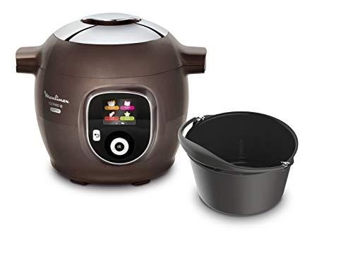 Moulinex Multicuiseur Intelligent Cookeo + Gourmet 6L 6 Modes de Cuisson 150 Recettes Préprogrammées Jusqu'à 6 Personnes + Moule à Gâteaux inclus Marron Glacé CE852900