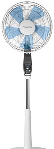 Rowenta Ventilateur sur pied 16''/40 cm, 5 pâles, Fonction Turbo Boost, Silence extrême, Ajustable en hauteur, Air frais intense VU5640F0