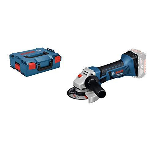 Bosch Professional 060193A308 18V System Meuleuse Angulaire sans-fil GWS 18-125 V-LI (Régime à Vide : 10000 tr/min, Diamètre de Disque : 125 mm, sans Batteries ni Chargeur, dans une L-BOXX) Bleu