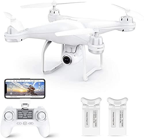 Drone avec GPS Potensic drone avec 1080P HD caméra à angle réglable en temps réel FPV et T35 Avion en Fonction Suivez-moi, maintien de l'altitude, GPS retour à la maison Meilleur cadeau de la fête