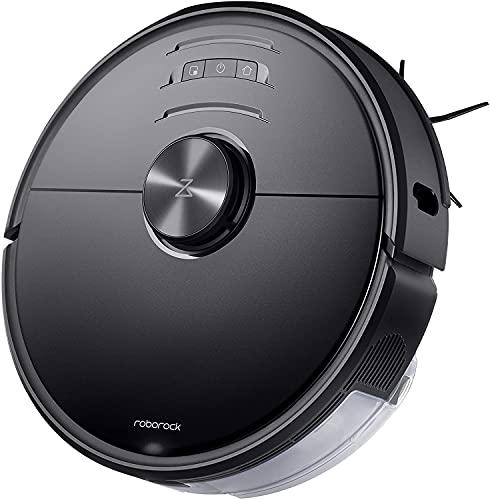 Roborock S6 MaxV robot aspirateur 2500Pa Double caméra Technologie Reactiv AI Superficie 250m² Bac 460ml Bac eau 290ml App Roborock Amazon Alexa Noir