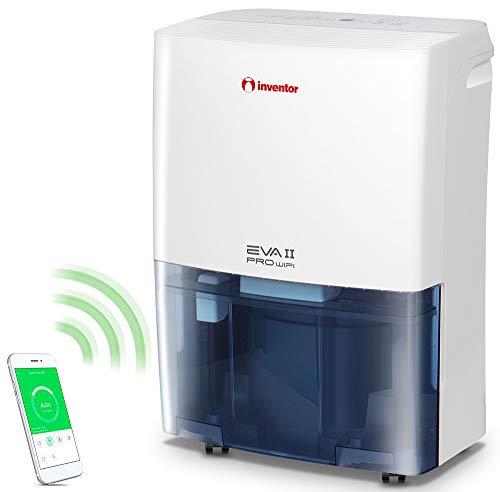 Inventor EVA II Pro WiFi 20L /24h -Déshumidificateur d'air, Réservoir d'eau 3L, Sèche-Linge, Minuterie, Technologie Intelligente Wi-Fi, Redémarrage Auto, Garantie de 2 ans