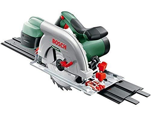 Scie circulaire filaire Bosch - PKS 66 AF (1600W, livrée avec lame de scie bois , rail de guidage, emballage carton)