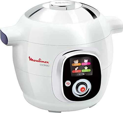 Moulinex Cookeo Multicuiseur intelligent, 6 L, 1200 W, 100 recettes préprogrammées, Jusqu'à 6 personnes, 6 modes de cuisson, Guide pas à pas, Facile à utiliser CE704110