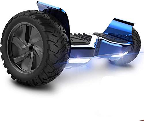 GeekMe Gyropode 8.5 Hoverboard Overboard Pouces Scooter Electrique Tout Terrain Scooter Auto-équilibré Electrique avec Moteur Puissant LED Bluetooth pour Adultes et Enfants