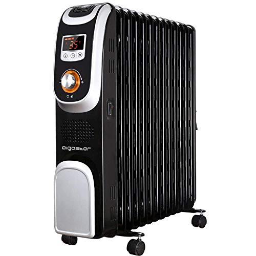 Aigostar Oil Monster 33JHH – Radiateur à bain d'huile portable. 13 éléments, 2500 W. Écran de contrôle LED, télécommande. Design exclusif.