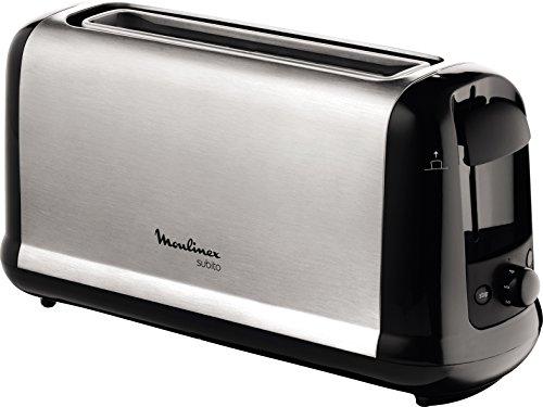 MOULINEX Subito inox Grille pain 1 longue fente toaster Thermostat 7 positions Décongelation Rechauffage Remontée extra haute LS260800