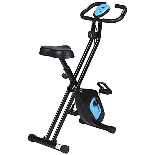 CARE FITNESS - Vélo d'Appartement Pliable SV-316-7 Fonctions - Masse d'Inertie 4 kg - Freinage Magnétique - Cardiofréquencemètres - Vélo de Biking Design et Performant Bleu