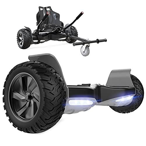 GeekMe Gyropode Auto-équilibré Scooter électrique 8,5 '' Tout Terrain avec Moteur Puissant Bluetooth + Hoverkart Accessoire pour Gyropode Electrique