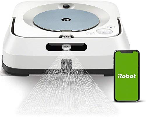iRobot Braava Jet m6134 Robot Laveur de Sols Premium, Connecté, avec Pulvérisateur d'Eau et Navigation Avancée, Cartographie Intelligente, Programmable via l'Application iRobot Home