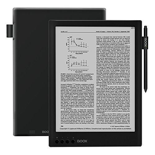 BOOX MAX2 13.3' eReader avec étui, Android 6.0, 2Go + 32Go, 4100mAh Wi-FI Noir