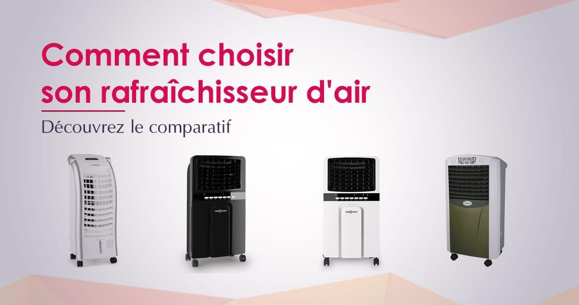 Ventilateur Rafraîchisseur Ionisateur Humidificateur Refroidisseur 4en1 Blanc