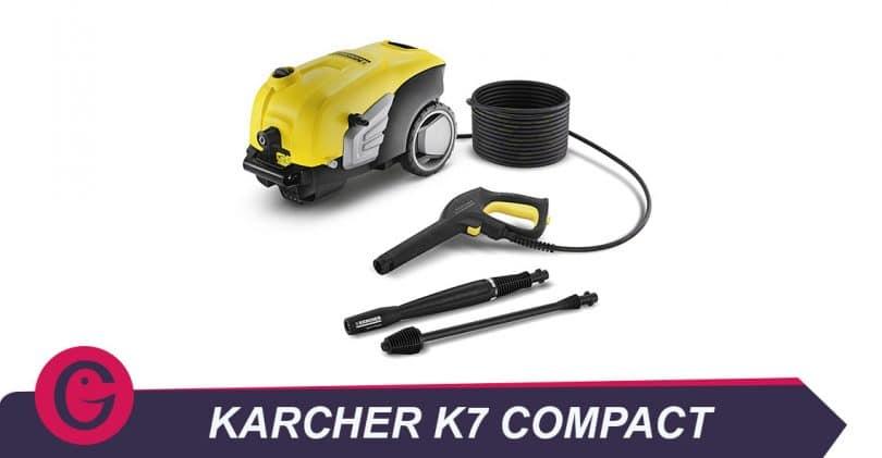 Un petit nettoyeur haute pression: le Karcherk7 Compact