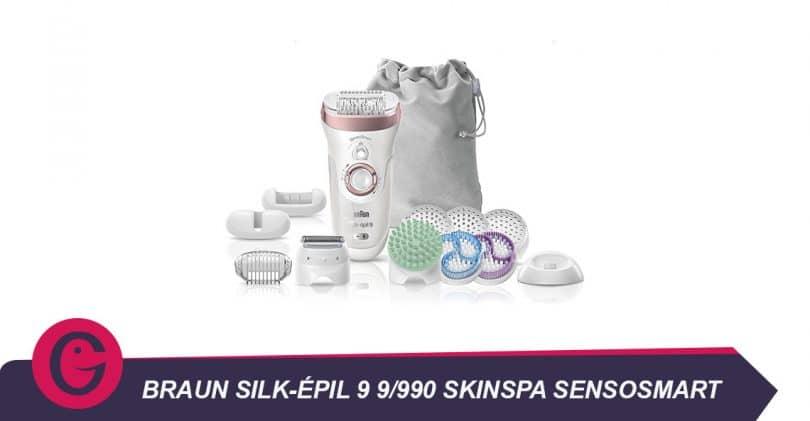Épilation et spa avec le Braun Silk-Épil9 9/990 Skinspa Sensosmart