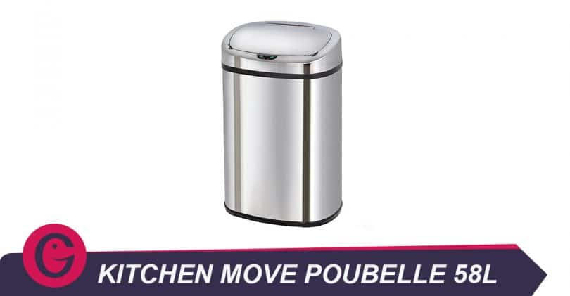 Kitchen move poubelle de cuisine automatique 58 l