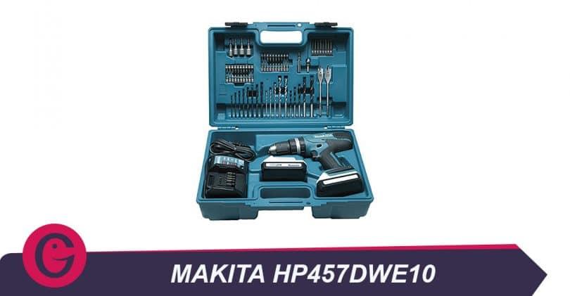 Visser, dévisser et percer avec la perceuse visseuse à percussion Makita HP457DWE10