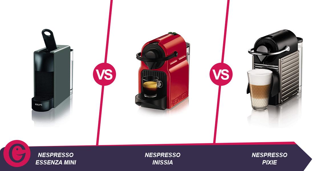 nespresso essenza mini vs inissia vs pixie