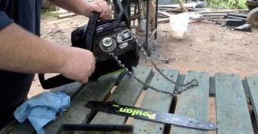 comment tendre la chaîne d'une tronçonneuse électrique
