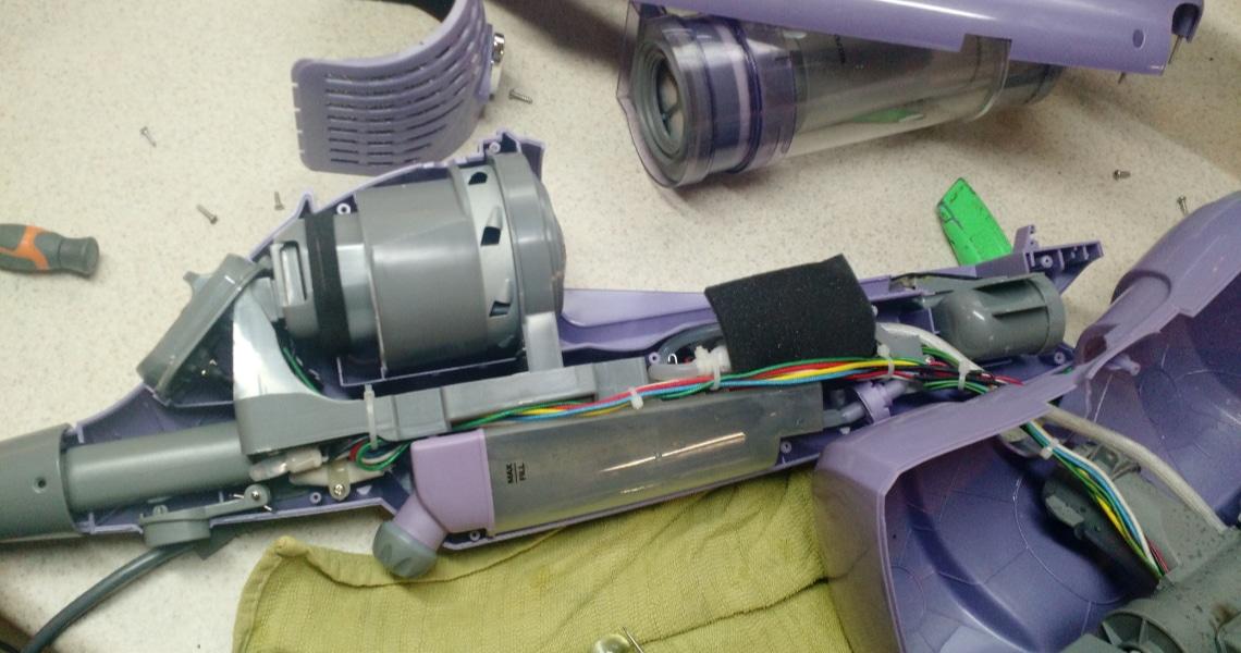 comment réparer un balai vapeur